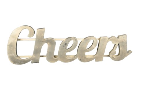 Cheer' Zinc Sign