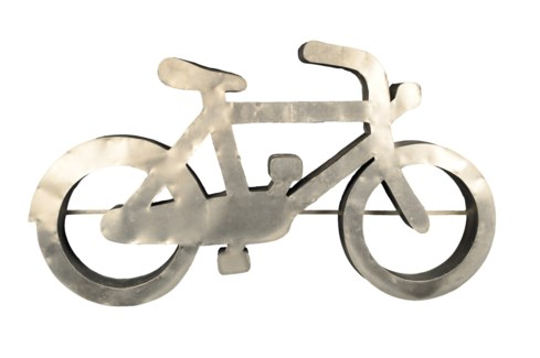 Zinc Bike Sculpture