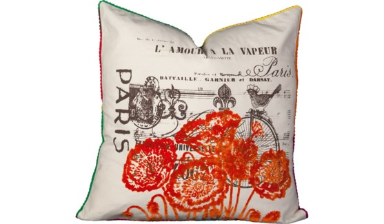 Paris Flock Pillow