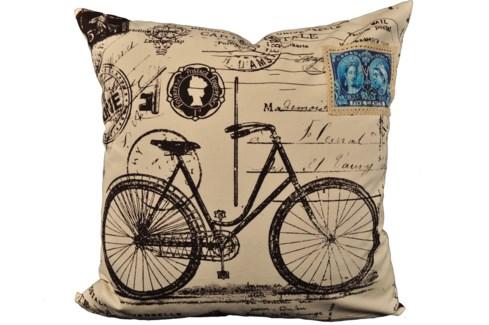 Bike Postcard Pillow