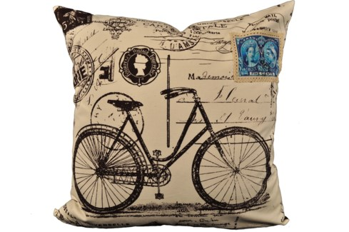 Bike Postcard Pillow