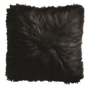 Black Icelandic Fur Pillow