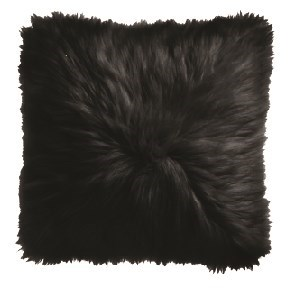 Black Icelandic Fur Pillow