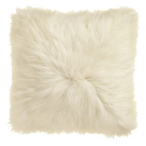 White Icelandic Fur Pillow
