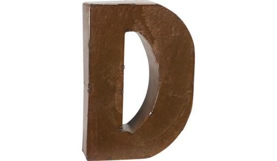 "Letter 'D' Bronze 9"""
