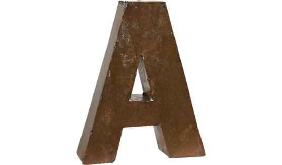"Letter 'A' Bronze 9"""