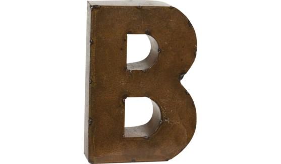 """Letter 'B' Bronze 9"""""""