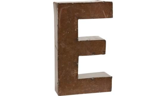 """Letter 'E' Bronze 9"""""""