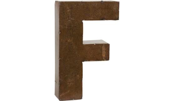 "Letter 'F' Bronze 9"""