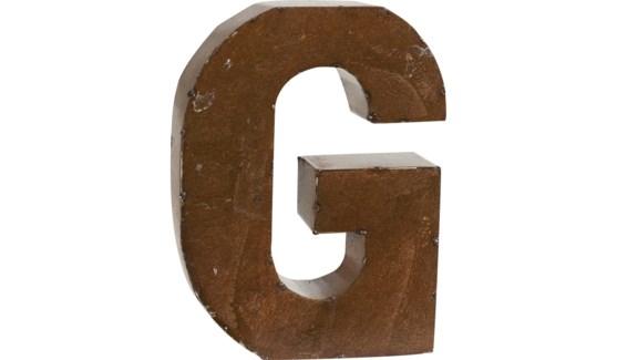 """Letter 'G' Bronze 9"""""""