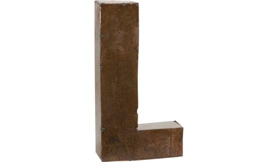 "Letter 'L' Bronze 9"""