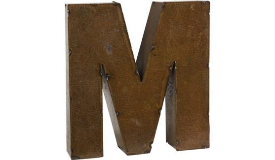 "Letter 'M' Bronze 9"""