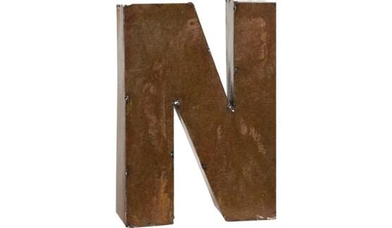"""Letter 'N' Bronze 9"""""""