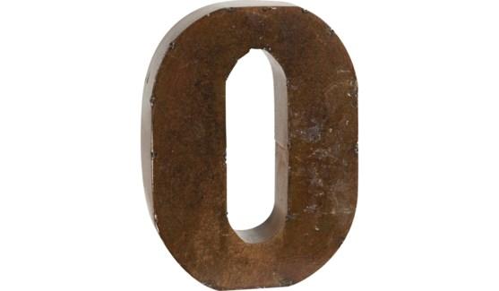 "Letter 'O' Bronze 9"""