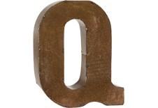 "Letter 'Q' Bronze 9"""