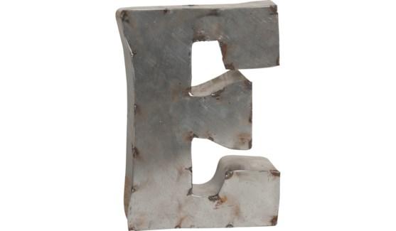 """Letter E Reclaimed Tin 10"""""""