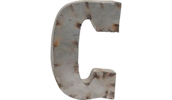 """Letter C Reclaimed Tin 10"""""""