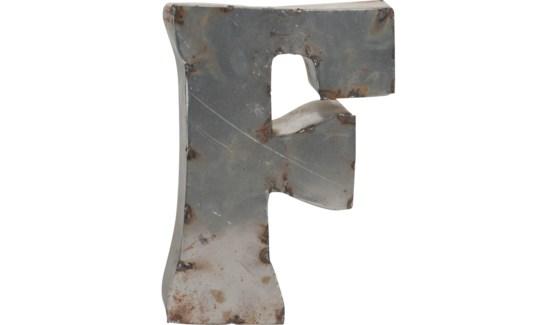 """Letter F Reclaimed Tin 10"""""""