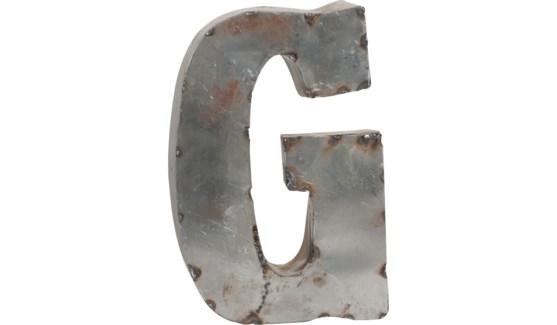 """Letter G Reclaimed Tin 10"""""""