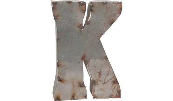 """Letter K Reclaimed Tin 10"""""""