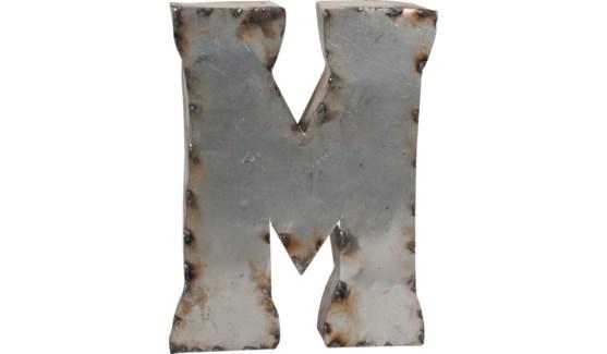 """Letter M Reclaimed Tin 10"""""""