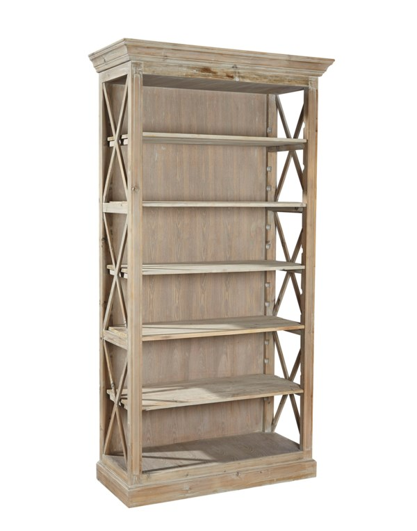Furniture Classics Weathered Open Bookcase