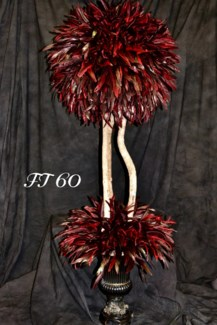 RED FEATHER TOPIARY
