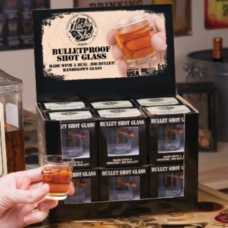 Bullet Shot Glass Display with 12pc
