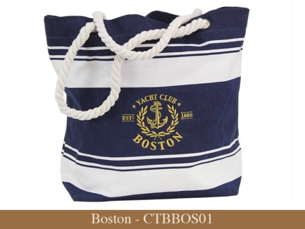 Boston - Canvas Nautical Embroidered