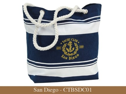 San Diego - Canvas Nautical Embroidered