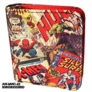 Retro Comic Zipper wallet