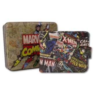 MARVEL BLACK WALLET PRINT OUTSIDE