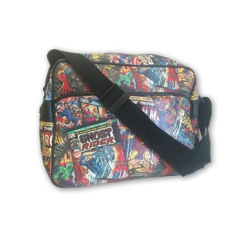 MARVEL BLACK MESSENGER BAG