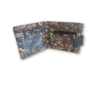 MARVEL BLACK WALLET PRINT INSIDE