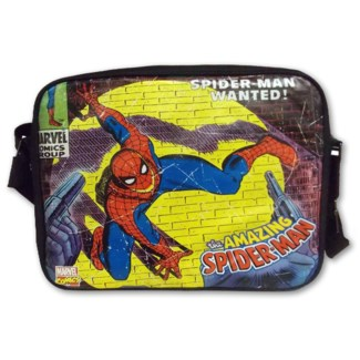 Stylish Comics Close Up Design Marvel Spiderman Messenger Bag
