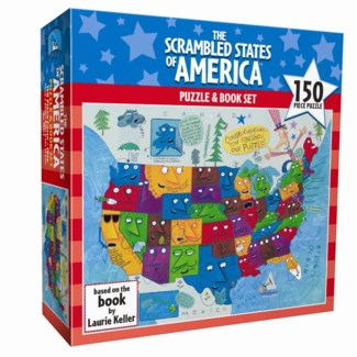 150 Piece The Scrambled States of America Puzzle & Book Set (while supplies last)