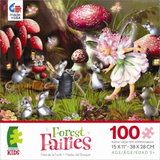 series 2, 100 Piece Forest Fairies Puzzle Assortment only
