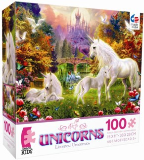 series 1, 100 Piece Unicorns Puzzle Assortment only
