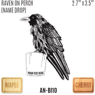 Raven on perch (namedrop)