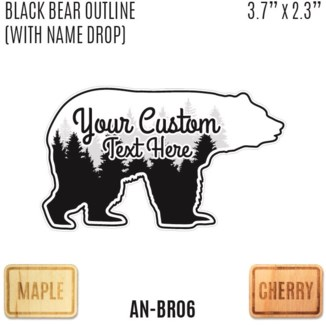 Black Bear Outline (with Name Drop)