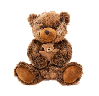 "14"" BROWN BEAR W/BABY"