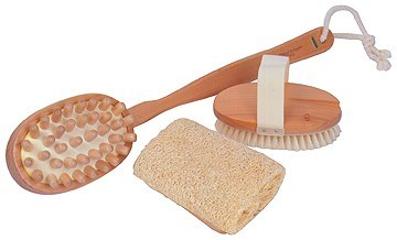 BATH BRUSH-MASSAGE-LOOFAH COMBO