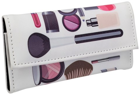 SET/5 COSMETIC BRUSHES IN CASE-COSMETIC PATTERN