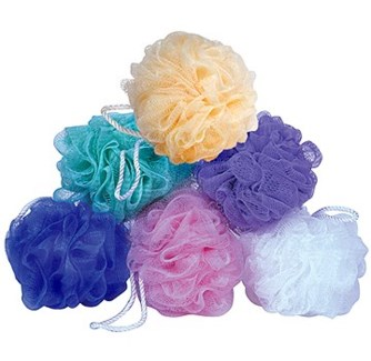 NYLON MESH FLOWER-ASSORTED COLORS