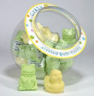 BATH FIZZER TABLETS-FROG SHAPE