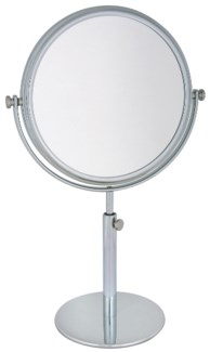 "VANITY STAND DOUBLE SIDED MIRROR, TELESCOPE 13.25""-17.25"" (34CM-44CM)"