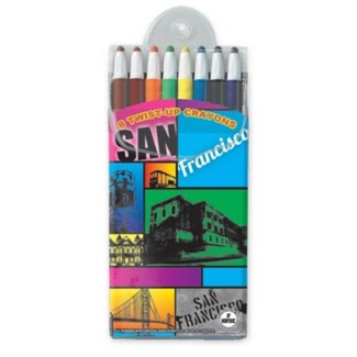 8 Pack Twist-Up Crayons-Front Card