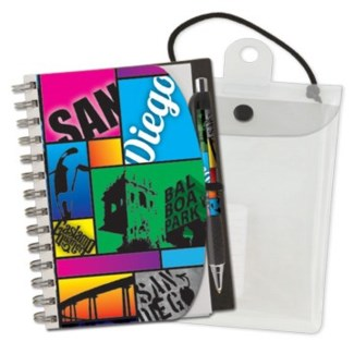 "Deluxe Hardcover 5"" x 7"" Notebook & Pen Set"