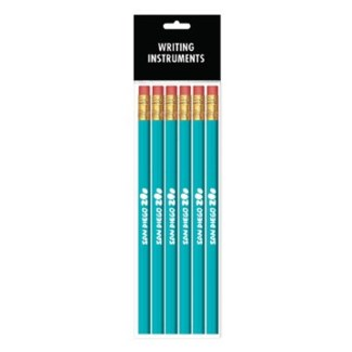 6-Pack 1 Color Wood Pencils
