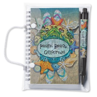 Spiral Notebook & Pen Set Glitz 4x6